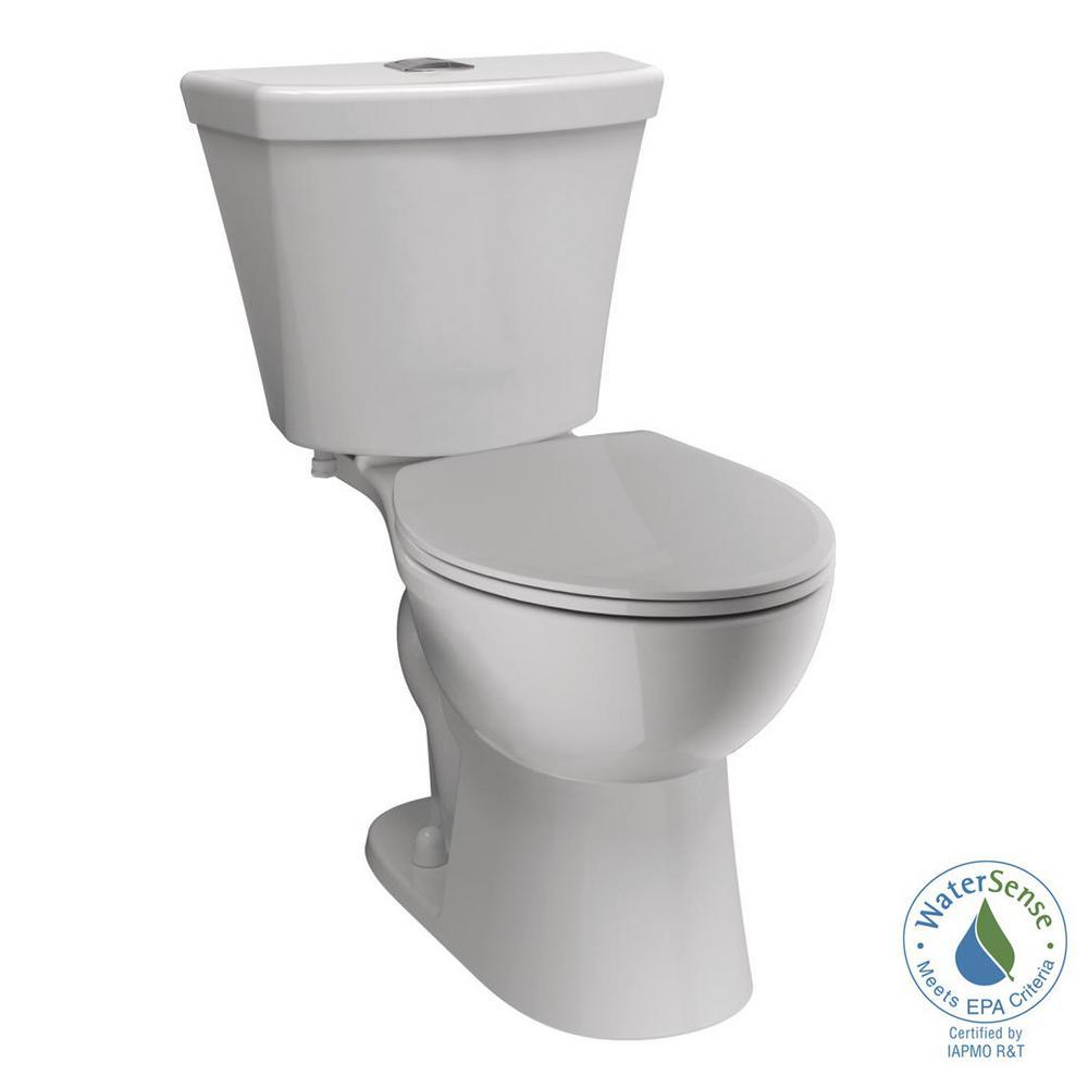 Delta Turner 2-Piece 1.1 GPF/1.6 GPF Dual Flush Round Front Toilet in White by Delta