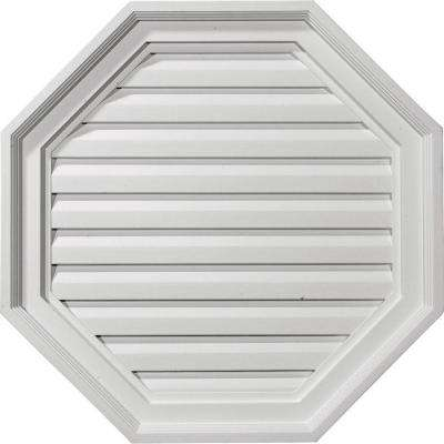 2-1/8 in. x 22 in. x 22 in. Functional Octagonal Gable Vent