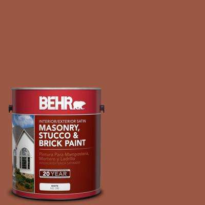 1 gal. #PFC-15 Santa Fe Satin Interior/Exterior Masonry, Stucco and Brick Paint