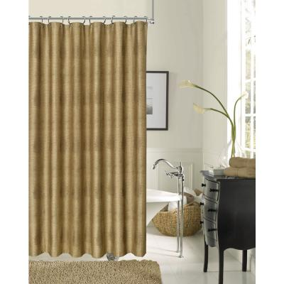 Crocodile 72 in. Bronze Fabric Shower Curtain