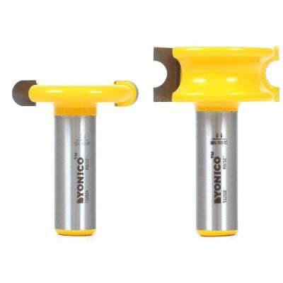 Canoe Joint 5/16 in. Bead 1/2 in. Shank Carbide Tipped Router Bit Set (2-Piece)