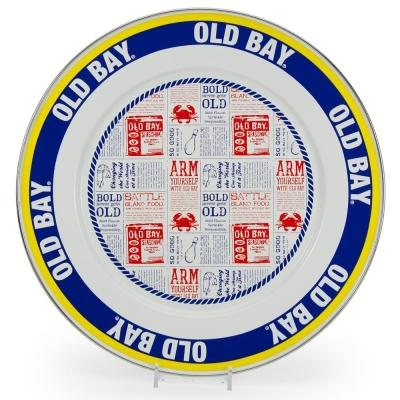 12.5 in. Old Bay Enameled Steel Round Charger Set of 2
