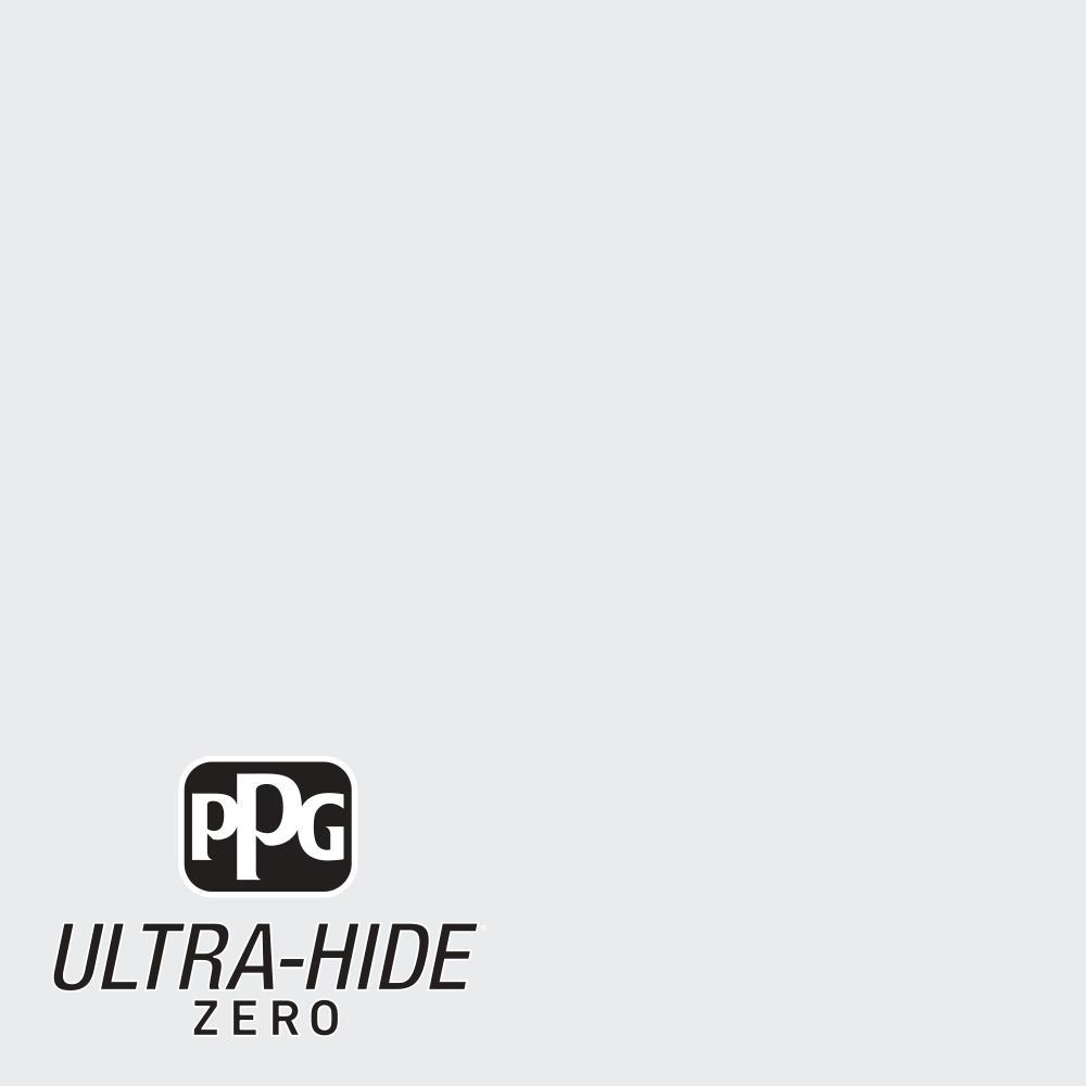 PPG 5 gal. #HDPCN09U Ultra-Hide Zero Winter Walk White Semi-Gloss Interior Paint