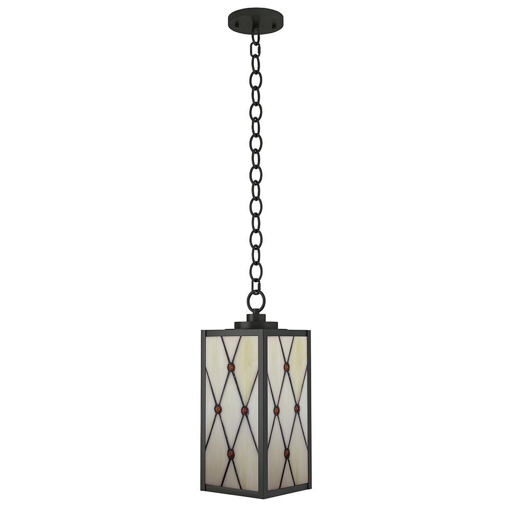 Dale Tiffany Ory 1 Light Outdoor Oil Rubbed Bronze Hanging Pendant Sth16135 The Home Depot