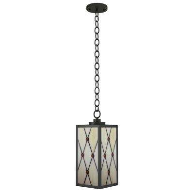Ory 1-Light Outdoor Oil Rubbed Bronze Hanging Pendant