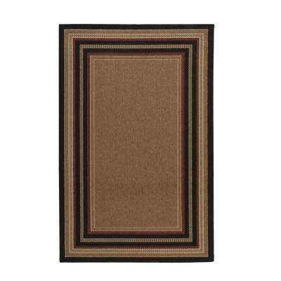 Border Chili/Red/Brown 5 ft. 3 in. x 7 ft. 4 in. Indoor/Outdoor Area Rug