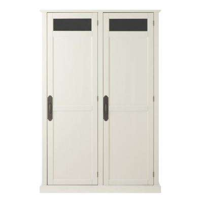 Payton 47.5 in. W x 72.25 in. H x 18 in. D Double Door Storage Locker in Polar White