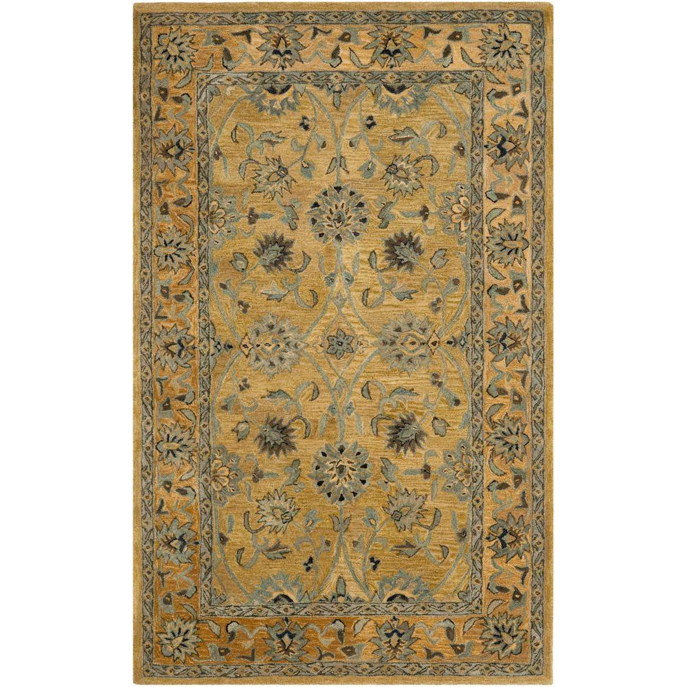 Anatolia Golden Pear/Smoke 4 ft. x 6 ft. Area Rug