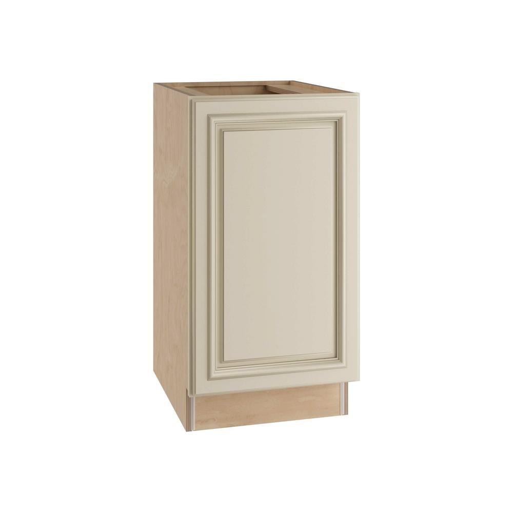 Holden Assembled 18x34.5x24 in. Single Pullout Wastebasket Base Kitchen Cabinet