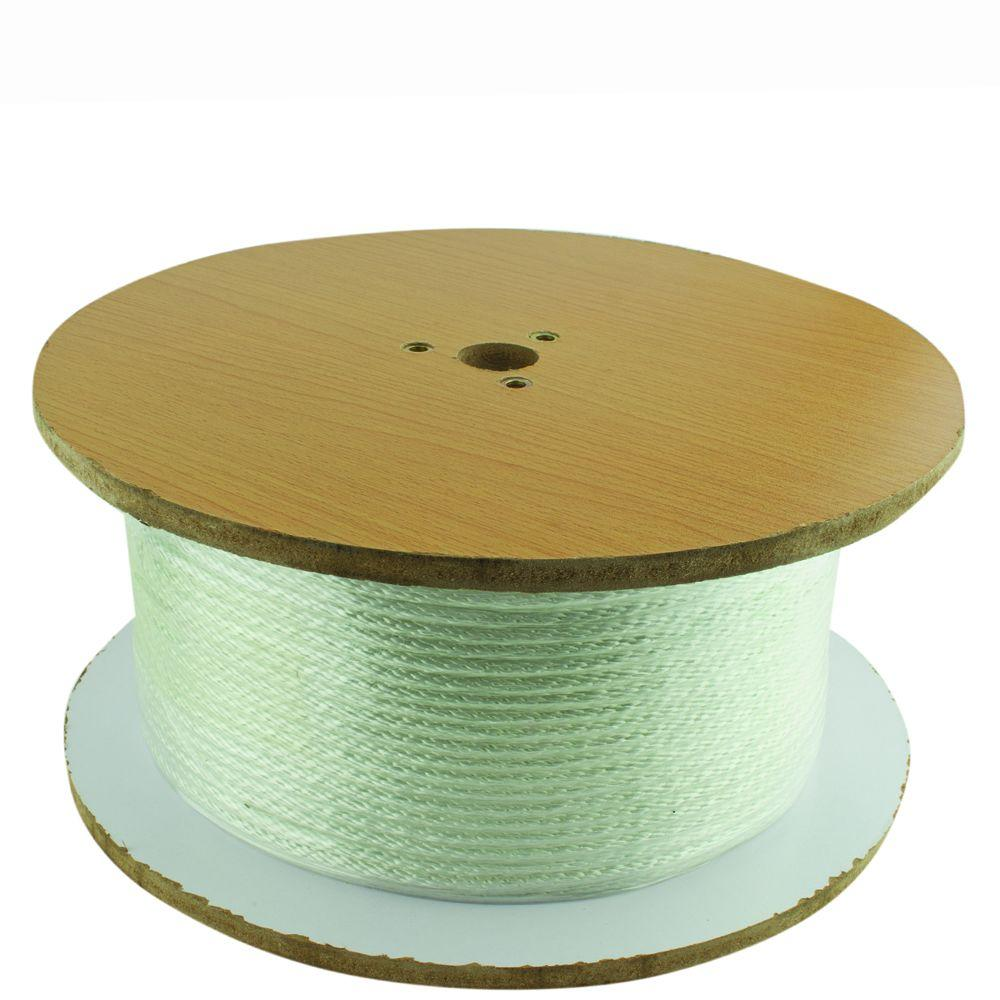 1/4 in. x 800 ft. White Solid Braid Nylon Rope