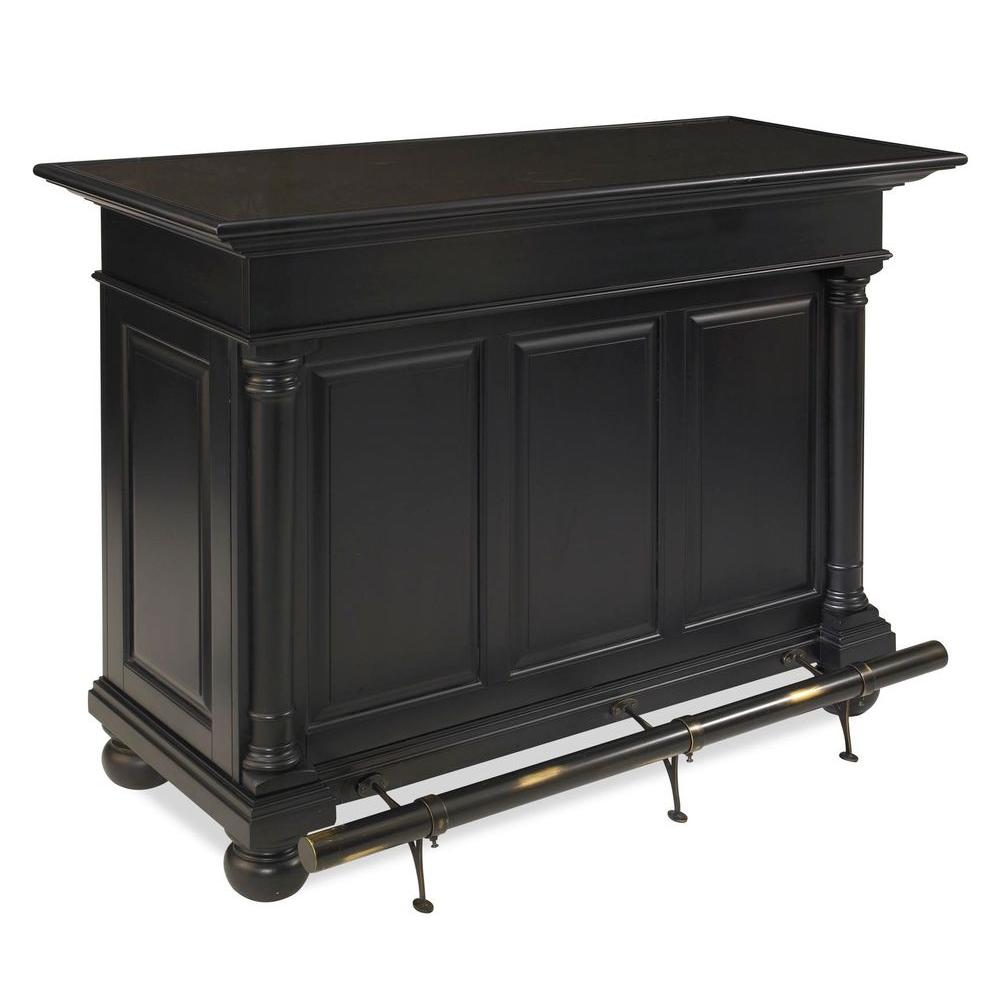 Home Styles St. Croix Bar in Black Finish-DISCONTINUED