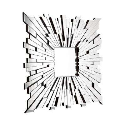 Fiery Square Clear Decorative Mirror