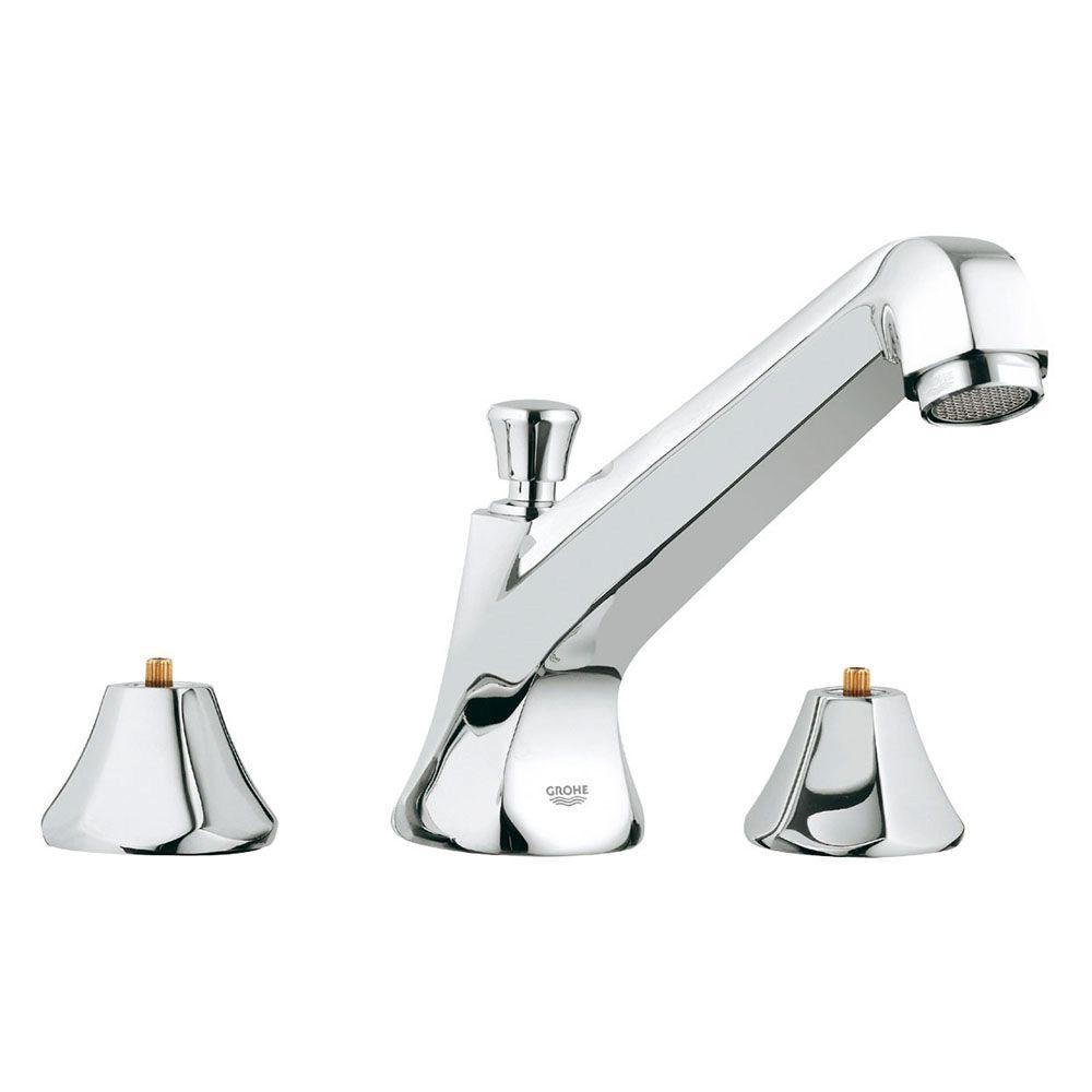 Somerset 2-Handle Widespread Roman Tub Filler in StarLight Chrome