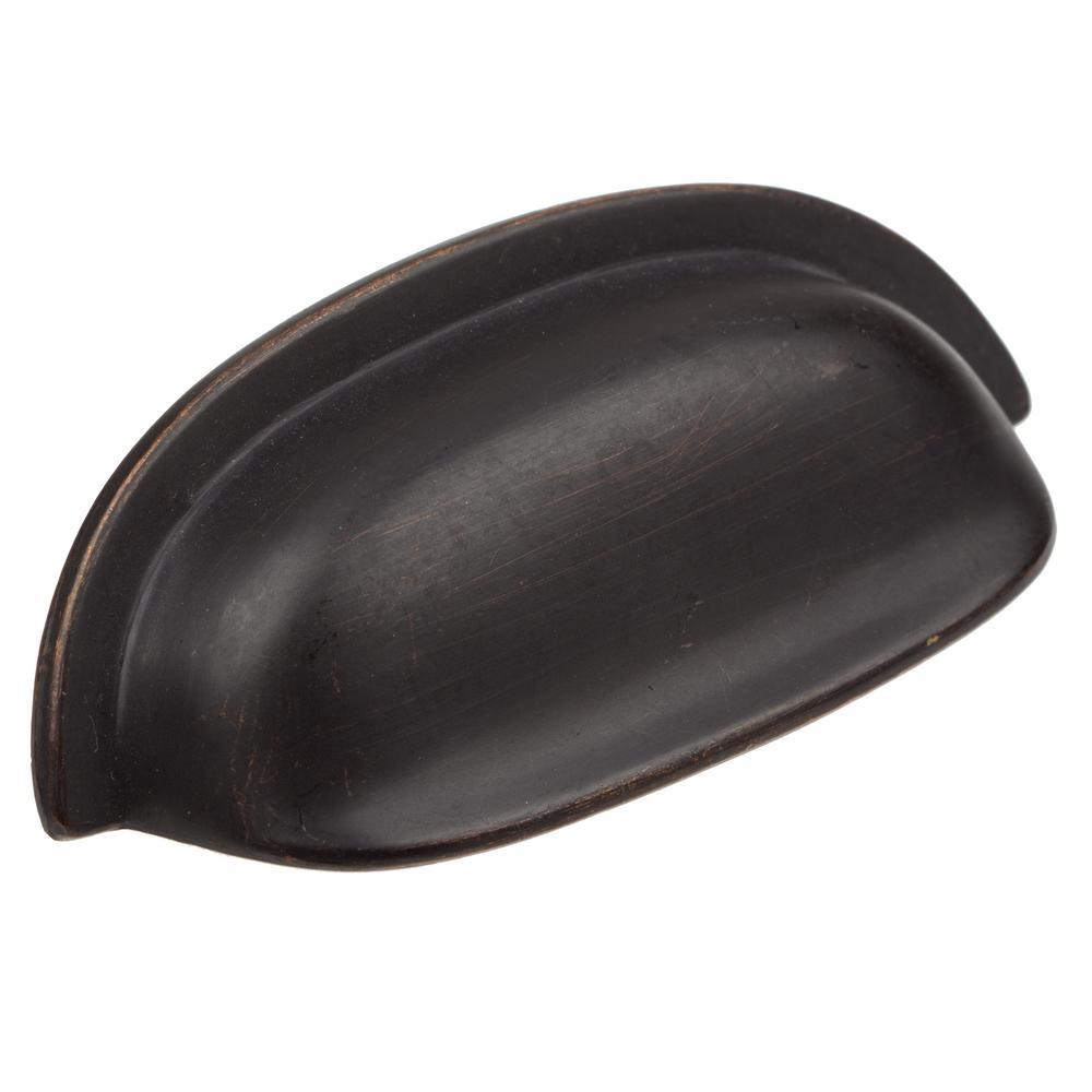 2-1/2 in. CC Oil Rubbed Bronze Classic Bin Cabinet Pulls (10-Pack)