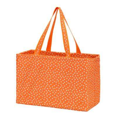 Orange Scattered Dot Polyester Ultimate Tote
