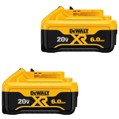 20-Volt MAX XR Lithium-Ion Premium Battery Pack 6.0Ah (2-Pack)