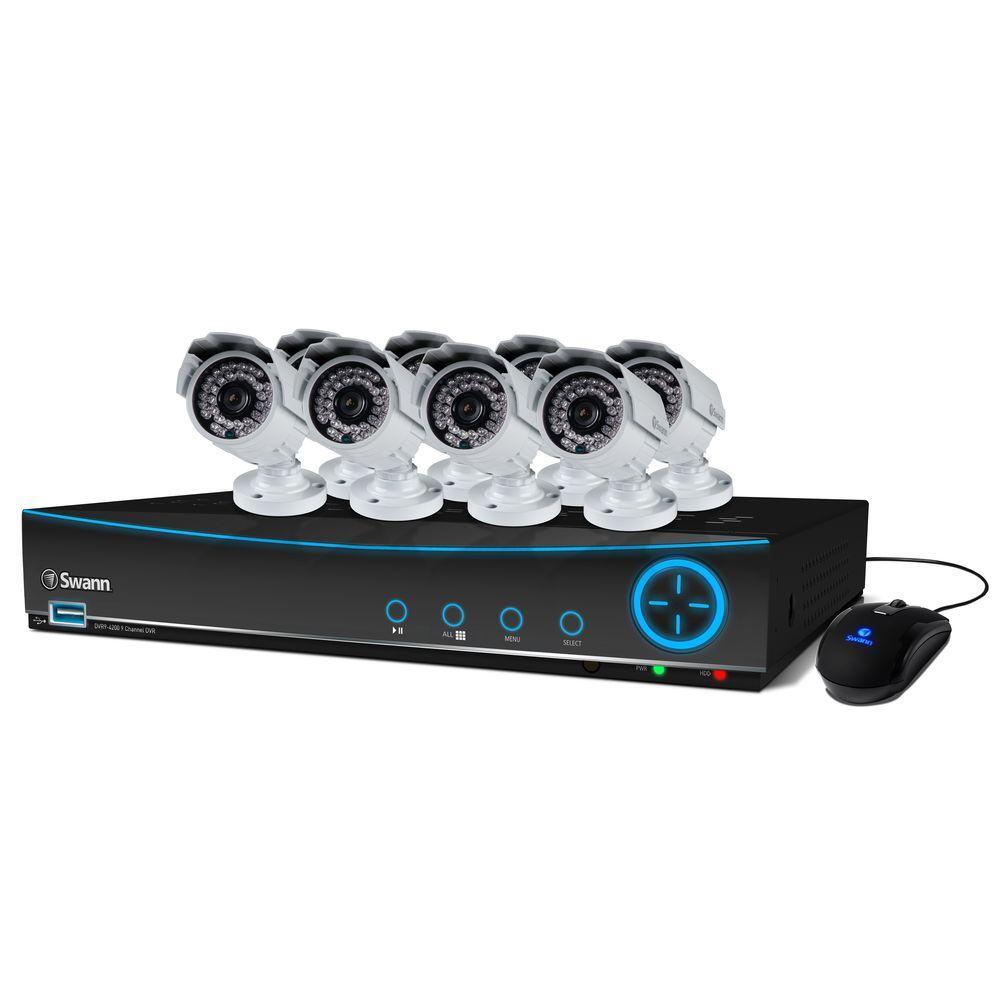 Swann 4200 9-CH 960H Surveillance System with (8) 700 TVL Indoor/Outdoor Cameras
