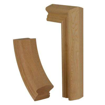 7599 Unfinished Hard Maple 2-Rise Gooseneck Straight with No Cap Fitting