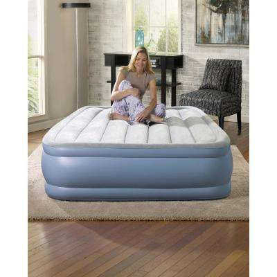 Full 16 in. Hi Loft Raised Adjustable Air Bed Mattress Set