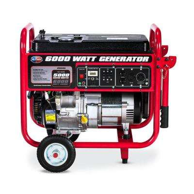 5000-Watt Manual Start Gasoline Powered Portable Generator with Mobility Kit