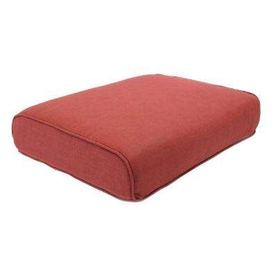Fall River 21.5 x 17.25 Outdoor Ottoman Cushion in Standard Chili