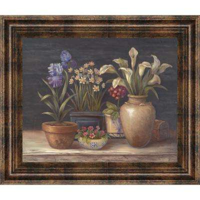 """22 in. x 26 in. """"Floral Sensation II"""" by Vivian Flasch Framed Printed Wall Art"""