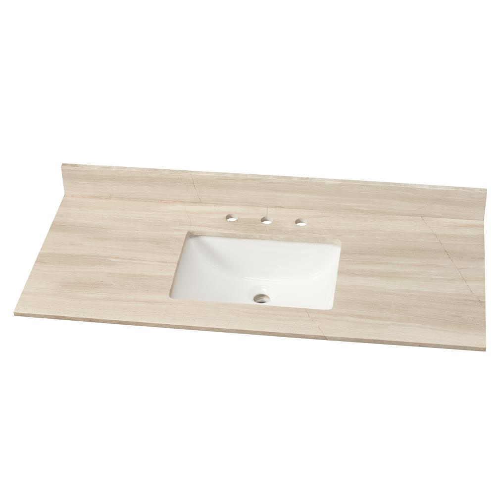Upc 747583056498 Home Decorators Collection 49 In W Marble Single Vanity Top In White Oak