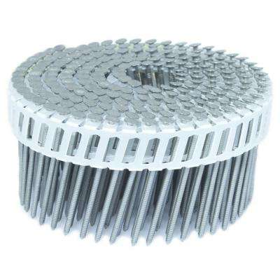 2.25 in. x 0.092 in. 15-Degree Ring Stainless Plastic Sheet Coil Siding Nail 3,200 per Box