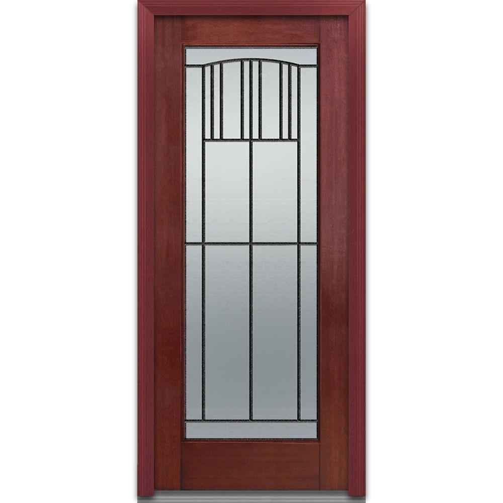 36 in. x 80 in. Madison Left-Hand Full Lite Classic Stained