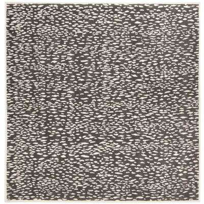 Marbella Dark Gray/Ivory 6 ft. x 6 ft. Square Area Rug