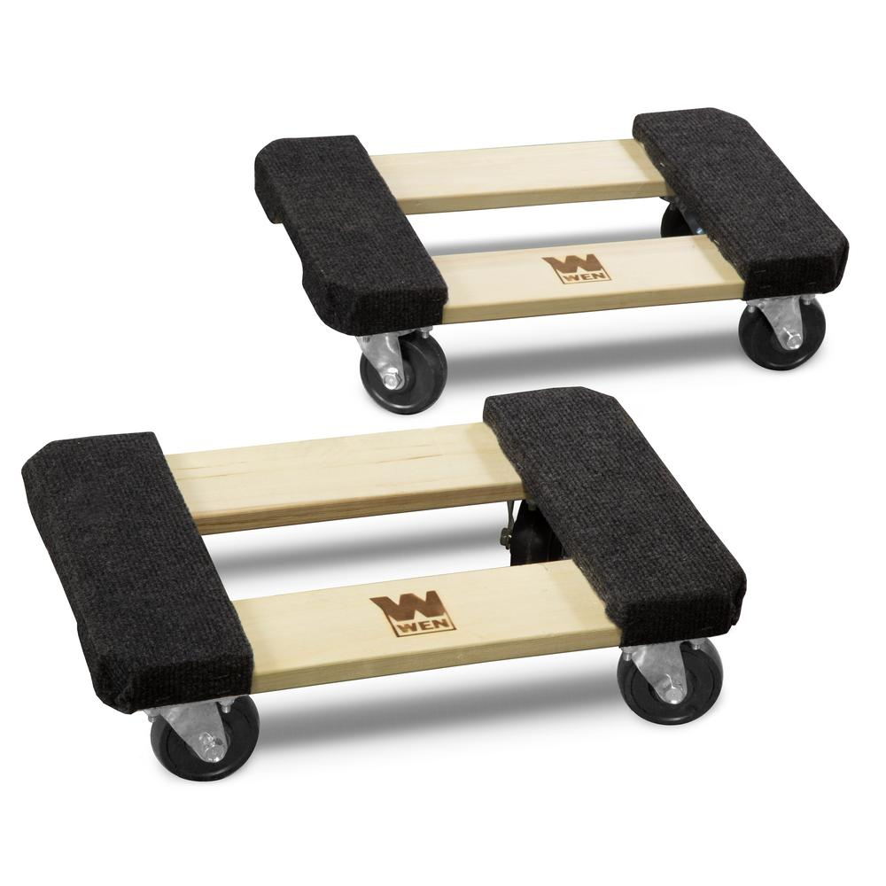 Wen 1000 Lbs Capacity 12 In X 18 In Hardwood Furniture Dolly 2