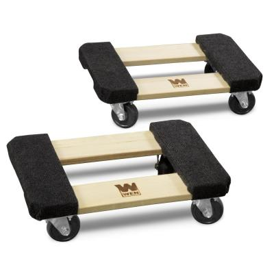 1320 lbs. Capacity 12-by-18 in. Hardwood Furniture Dolly (2-Pack)