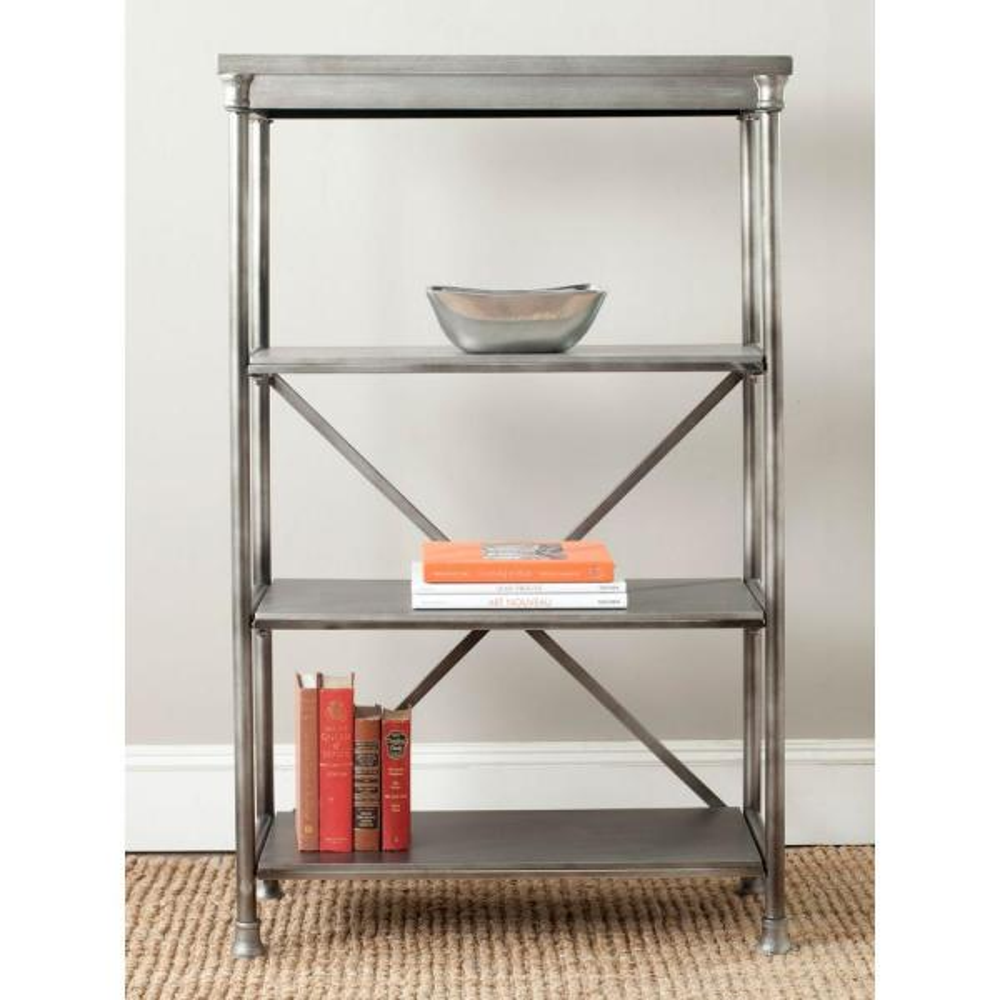 Jacinda Dark Silver Open Bookcase