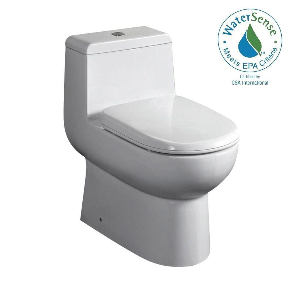 Fresca Antila 1-piece 0.8 / 1.6 GPF Dual Flush Elongated Toilet in ...