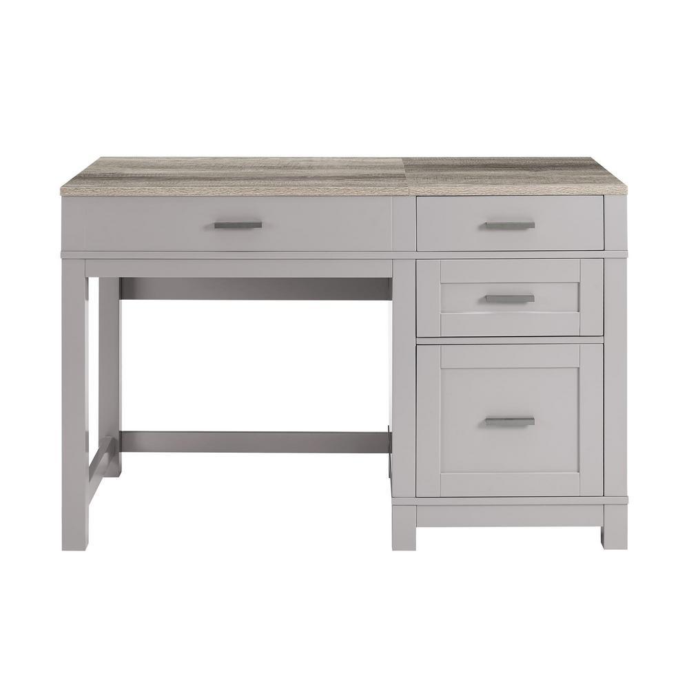 Viola Gray Lift Top Desk