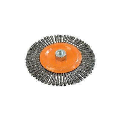 6-7/8 in. Stringer Bead Brush with Knot-Twisted Wires 5/8 in. - 11 in. Arbor