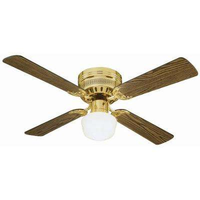 Millbridge Hugger 42 in. Polished Brass Ceiling Fan