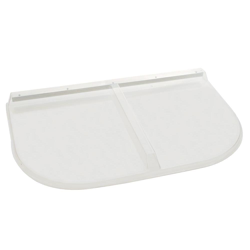 Shape Products 42 in. x 26 in. Polycarbonate U-Shape Window Well Cover