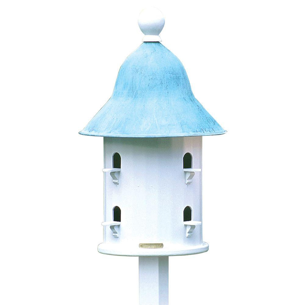 Lazy Hill Farm Designs Bell Birdhouse with Blue Verde Copper Roof