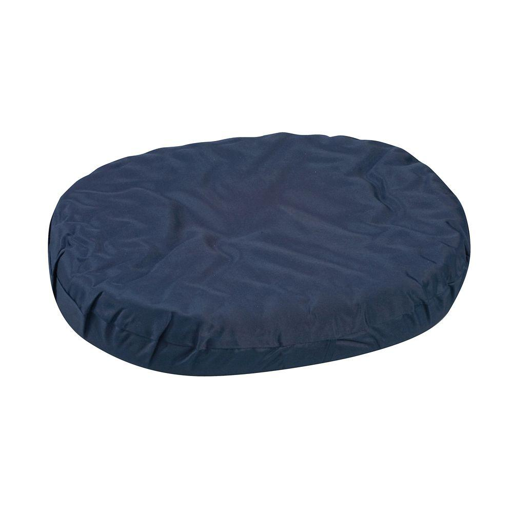 18 in. Convoluted Foam Ring Cushion in Navy