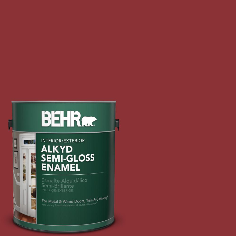 Exterior Paint Colors Home Depot: BEHR 1 Gal. #PPU2-3 Allure Semi-Gloss Enamel Alkyd