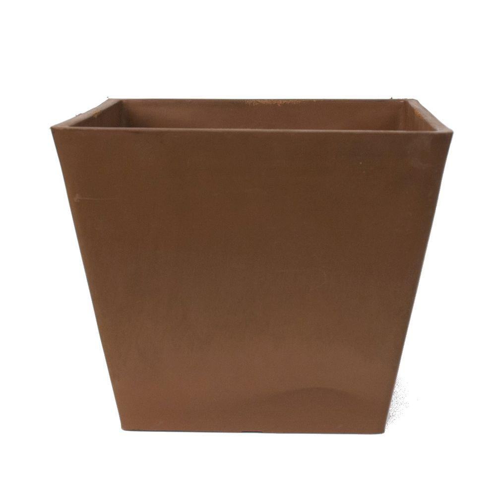 Simplicity Square 12 in. x 10 in. Chocolate PSW Pot