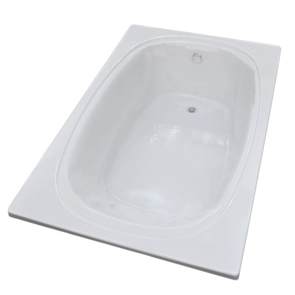 Peridot 6 ft. Acrylic Reversible Drain Rectangular Drop-in Non-Whirlpool Bathtub