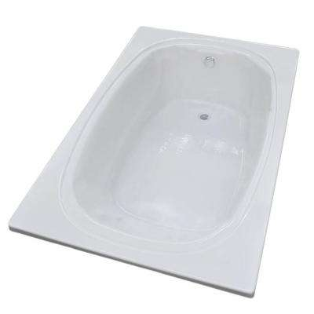 Peridot 6 ft. Acrylic Reversible Drain Rectangular Drop-in Non-Whirlpool Bathtub in White