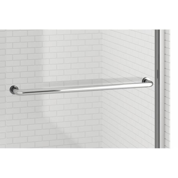 Basco Rotolo 48 In X 76 In Semi Frameless Sliding Shower Door In Oil Rubbed Bronze With Handle Rtla05a4876xpor The Home Depot