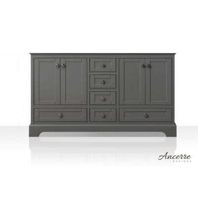 Audrey 59 in. W x 21 in. D Vanity Cabinet Only in Sapphire Gray
