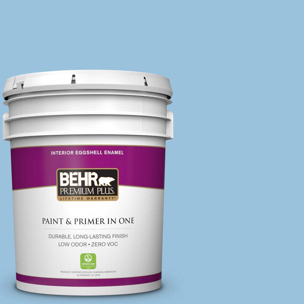 BEHR Premium Plus 5-gal. #560D-4 Madras Blue Zero VOC Eggshell Enamel Interior Paint