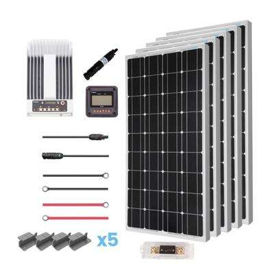 Solar panel kits alternative energy solutions the home depot 500 watt 12 volt mono solar premium kit for off grid solar system solutioingenieria Choice Image