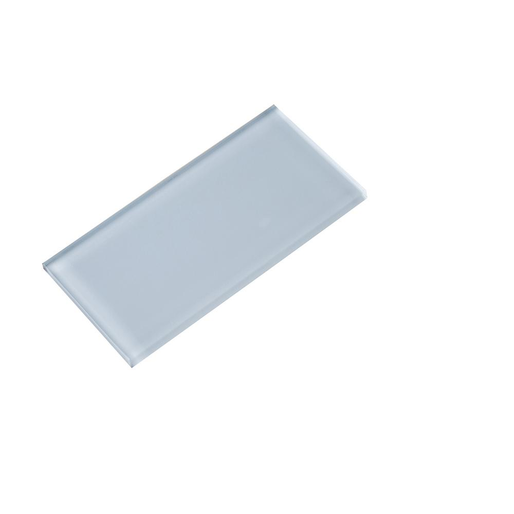 Subway Glass Tile/01 Super White 3 in. x 6 in. Glass