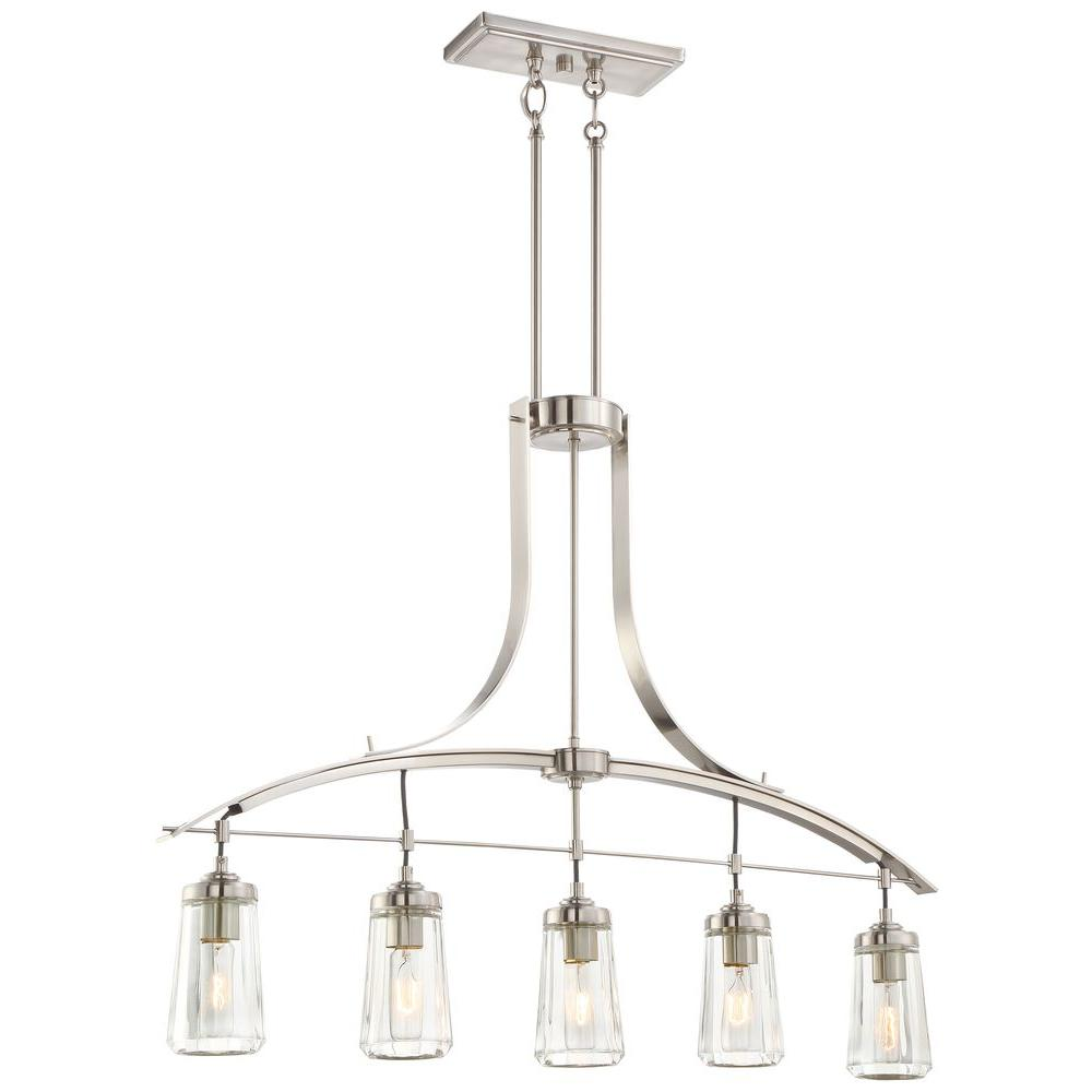 Minka Lavery Poleis 5 Light Brushed Nickel Pendant